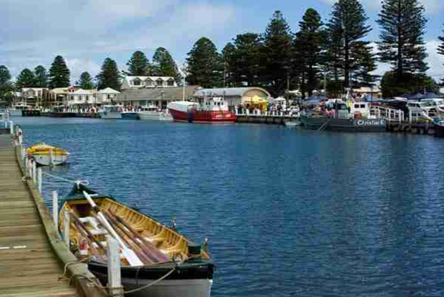 Visit Port Fairy's Busy Historic Wharf